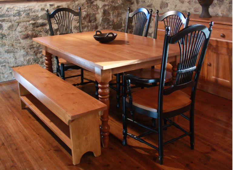Love To Gather Around This French Country Farm Table With Wheatsheaf Chairs  By KateMadison.com.