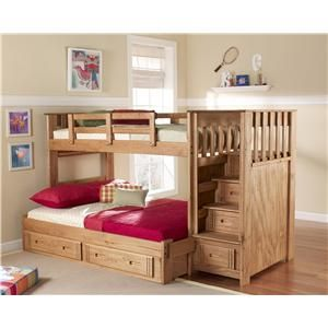 Woody Creek W By Woodcrest Miller Brothers Furniture Woodcrest Woody Creek Dealer In Dubois Diy Bunk Bed Bunk Bed With Stairs And Storage Bunk Bed Plans