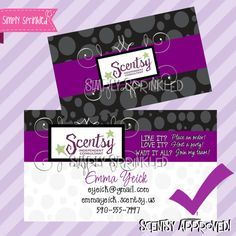 Scentsy Business Card Diy Printable By Simply Sprinkled Card Template Diy Business Cards Scentsy Party