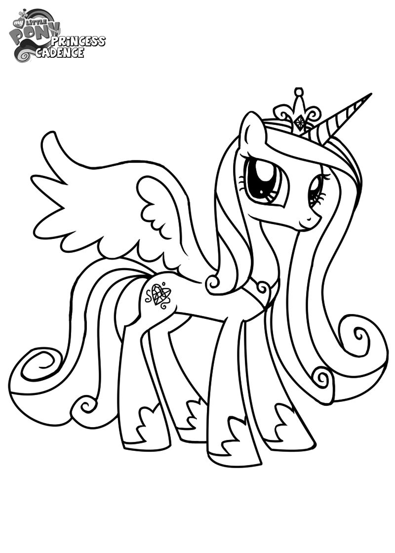 My Little Pony Princess Cadence Coloring Sheets My Little Pony Coloring My Little Pony Drawing My Little Pony Princess