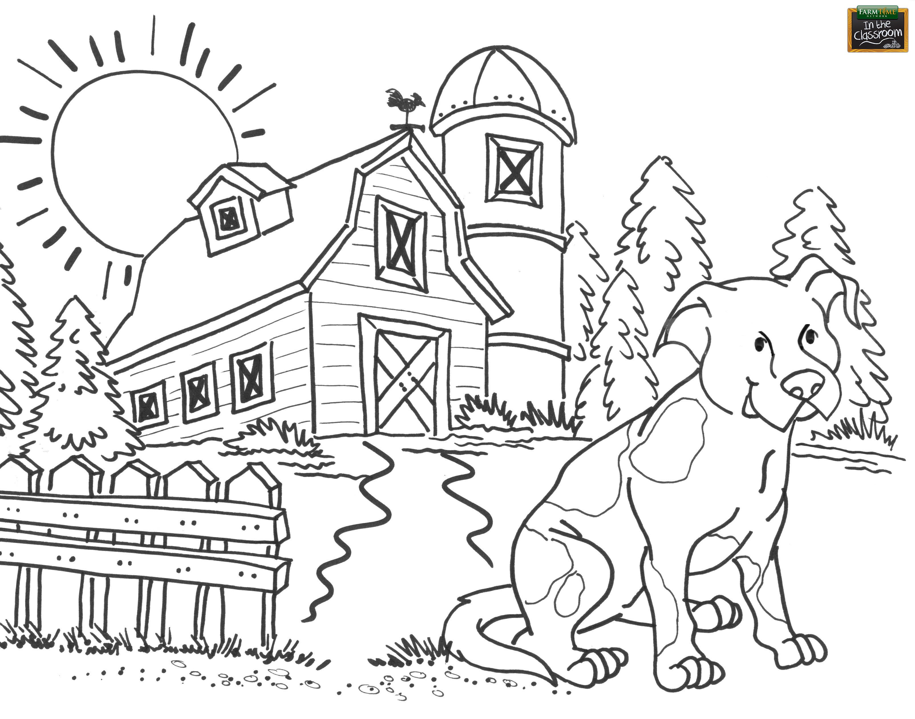 Free teaching tool - printable Agricultural coloring page for kids ...