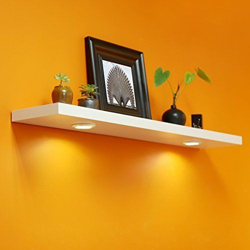 WELLAND Floating Wall Shelf with Battery Powered Touch Best Offer in