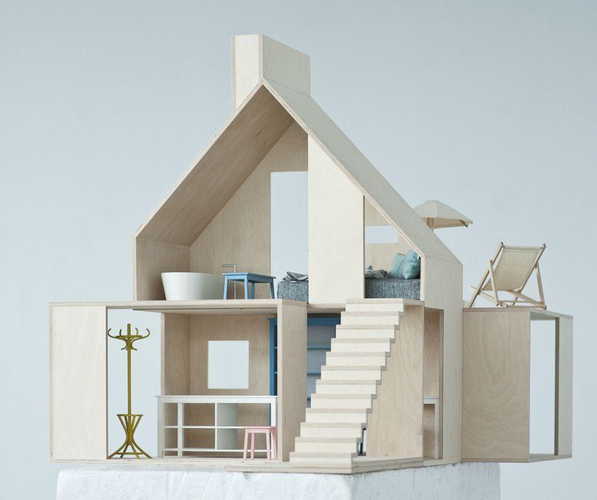les maisons de poup es modernes boomini maison de poup es pinterest maison de poup es. Black Bedroom Furniture Sets. Home Design Ideas