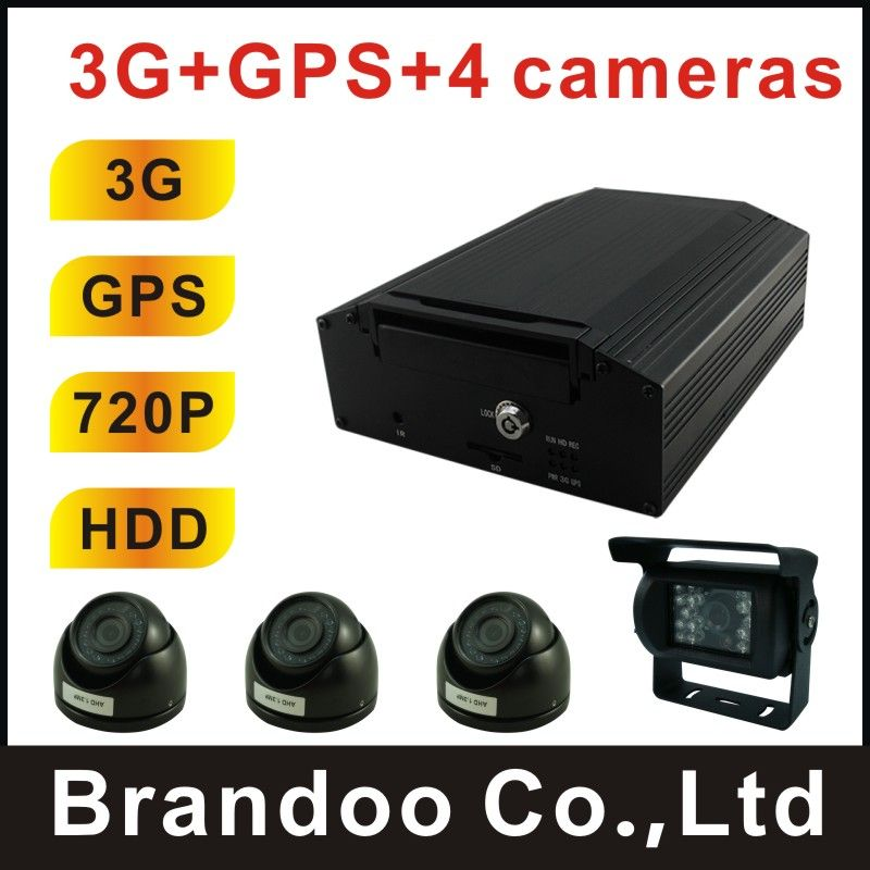 School Bus 3g Mdvr With Gps Live Video Monitoring Real Time Car