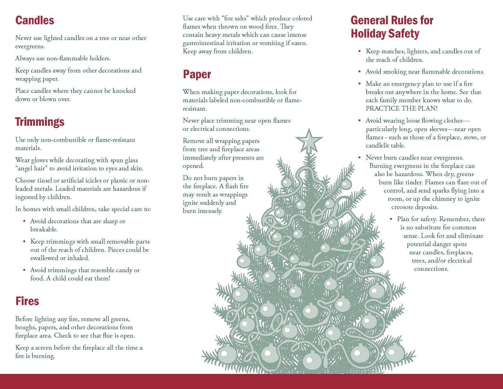 Christmas Decoration Safety Tips, 1600x1237 in 327KB | H