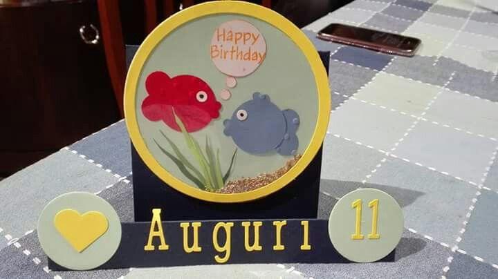 Fish Bowl Birthday Card For Boy Birthday Cards Pinterest