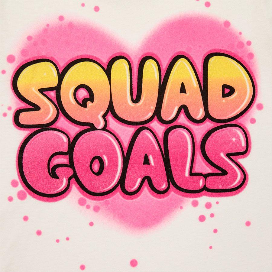 Girls Short Sleeve \'Squad Goals\' Graffiti Graphic Tee | Pinterest ...