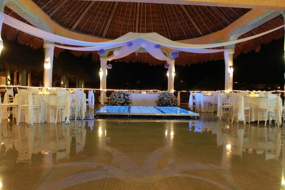 Laguna Set Up For A Private Wedding Reception Dance Floor