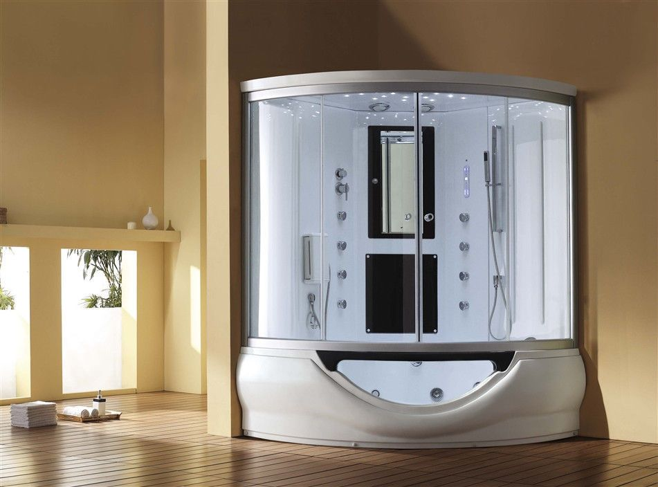 Ariel 701 Steam Shower With Whirlpool Bathtub Combo Steam