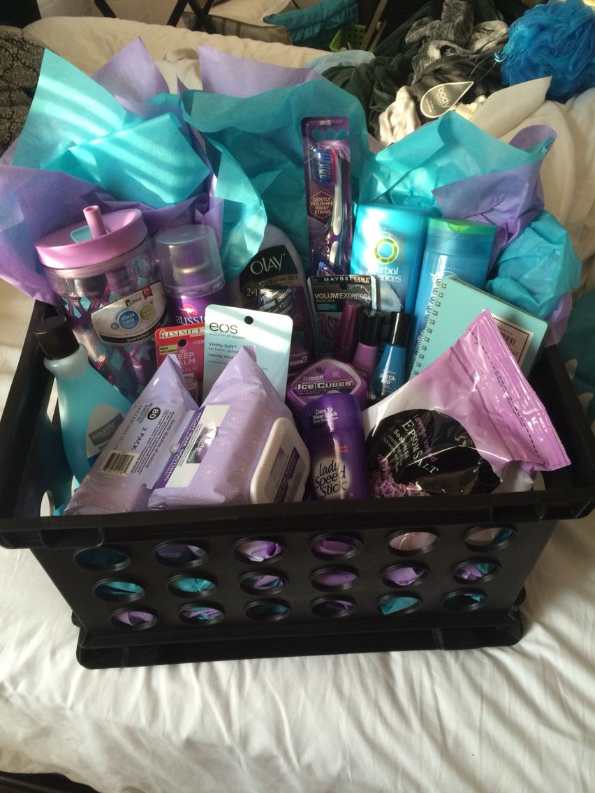 Gift Basket Purple Teal Diy Christmas Gifts For Friends Gift