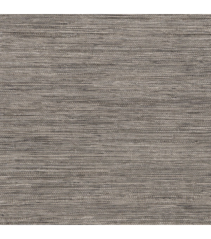 Tapis Grey Faux Grasscloth Wallpaper Sample Grey