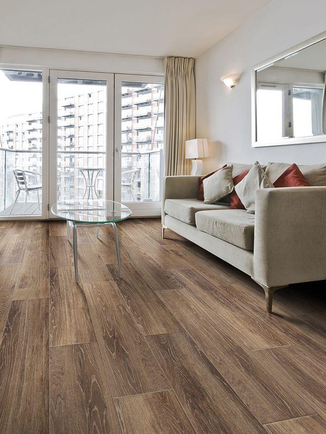 Ragno Cambridge Oak Brown 9x36 Color Body Porcelain Wood Look Floor And Wall Tile