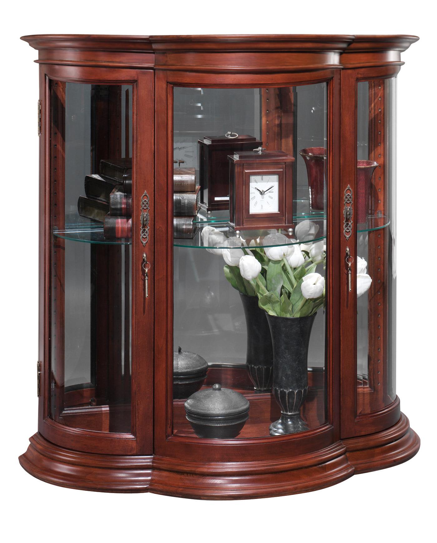 Crescent Curio Console Jasper Cabinet