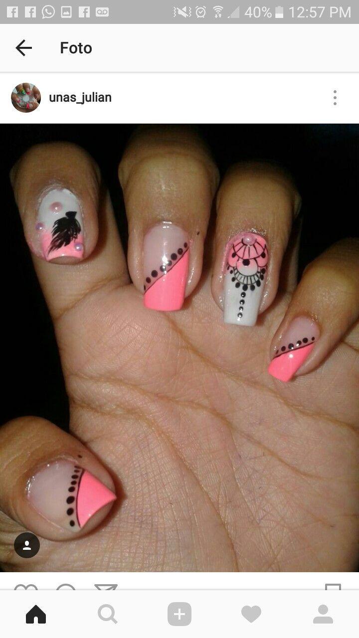 Pin de Mica Aiuto en uñas   Pinterest   Diseños de uñas, Manicuras y ...