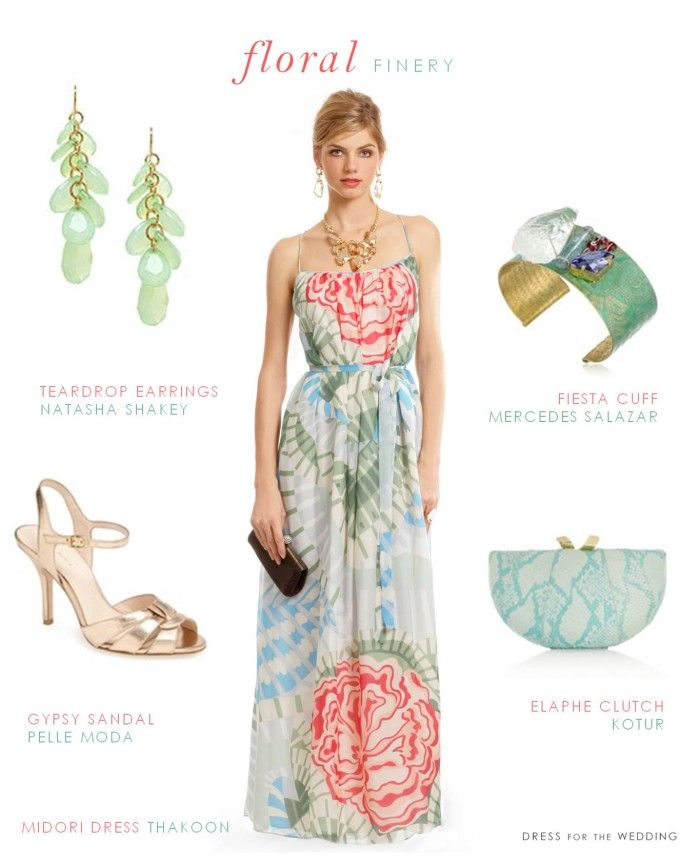 Floral Beach Wedding Guest Dresses