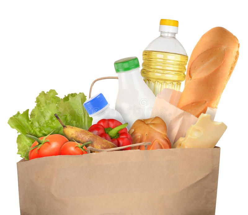 Bag Of Groceries Isolated On White Background Sponsored Affiliate Affiliate Groceries White Isolated Bag Food Clipart Food Shop Food Png