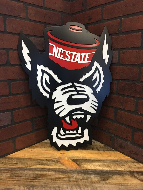 24 Nc State Wolfpack Tuffy Head Handmade Custom Metal Nc State Nc State Wolfpack Custom Metal