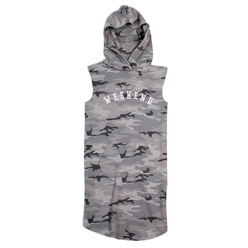 Girls 7-16 Harper & Elliott Hoodie Sleeveless Midi Dress, Girl's, Size: Medium, Ovrfl Oth