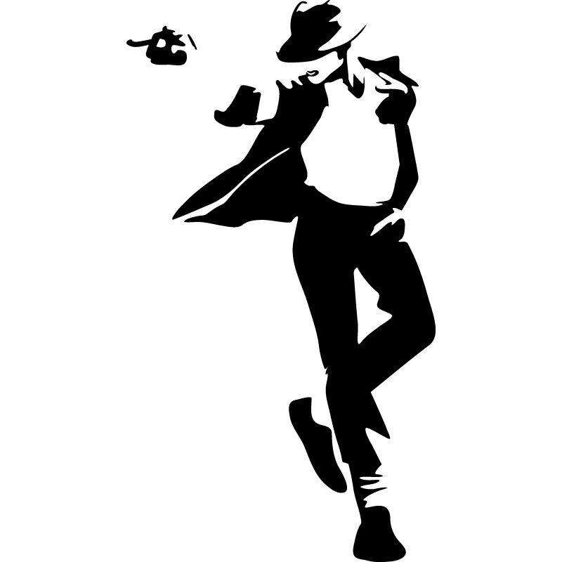 Michael Jackson 1 Pintura Preto E Branco Arte De Silhueta E