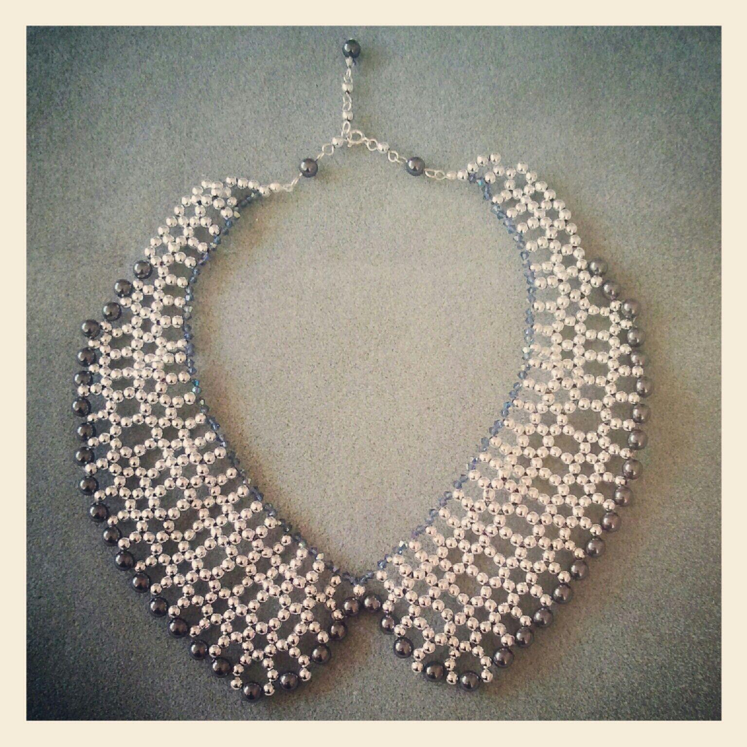 diy beaded collar   beaded collar, beads and craft