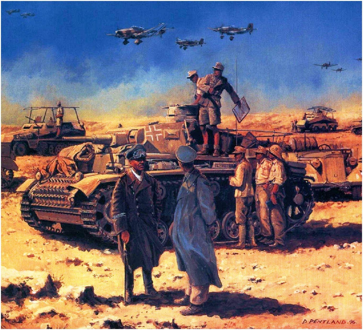 The Desert Fox (El zorro del desierto). Rommel en la segunda batalla de El Alamein, Egipto, 1942. David Pentland