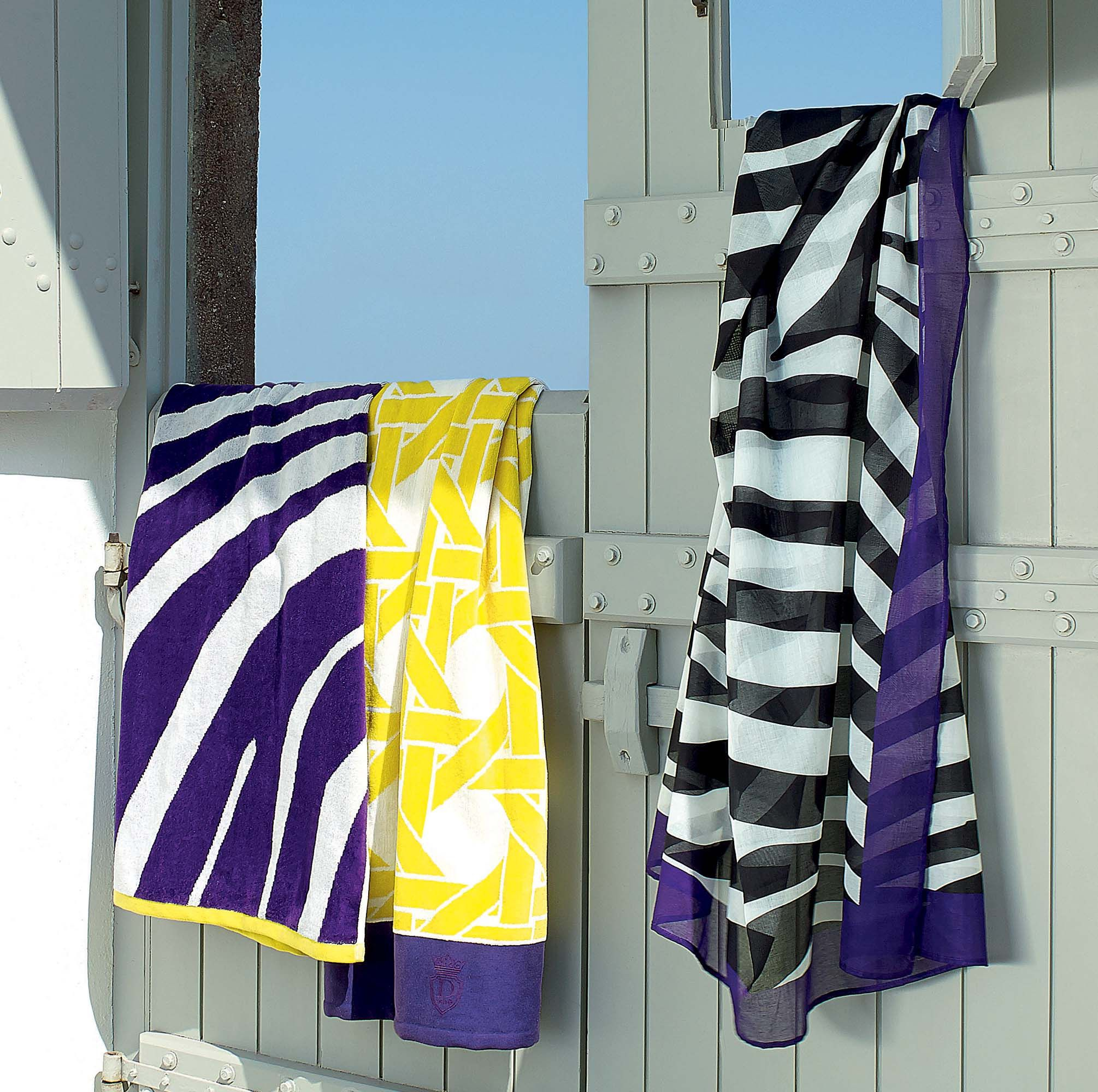 Serviette De Plage Descamps.Drap De Plage Descamps Zebre Violet Tres Belle Collection