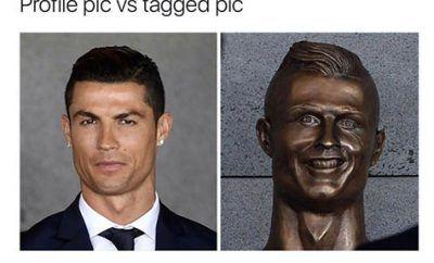 Cristiano Ronaldo Statue, Bust Memes, Funny Pictures http://cstu.io/0bfeba