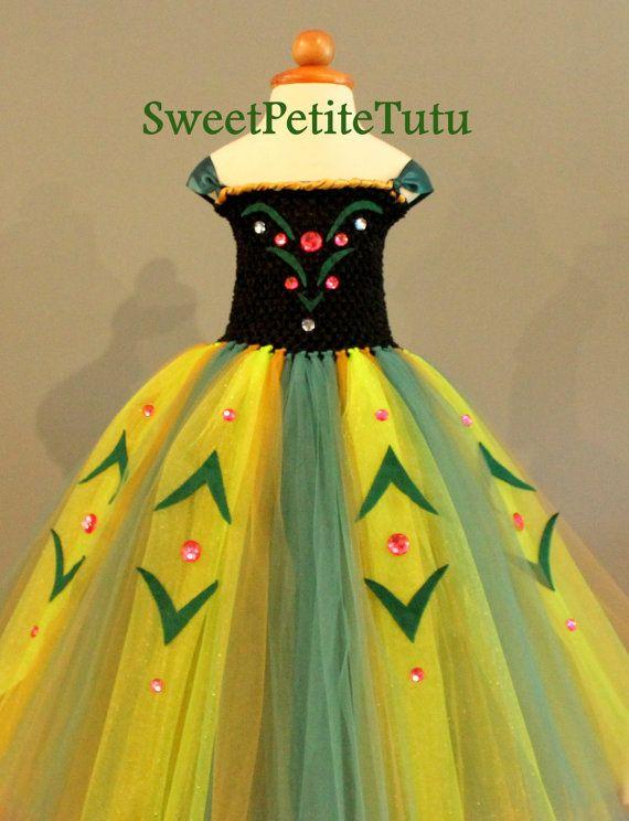 Anna Coronation Dress Newborn And Up Lined Top Frozen Tutu Puff Hair