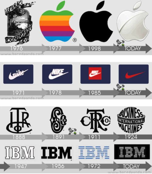 Logo design reinventions.