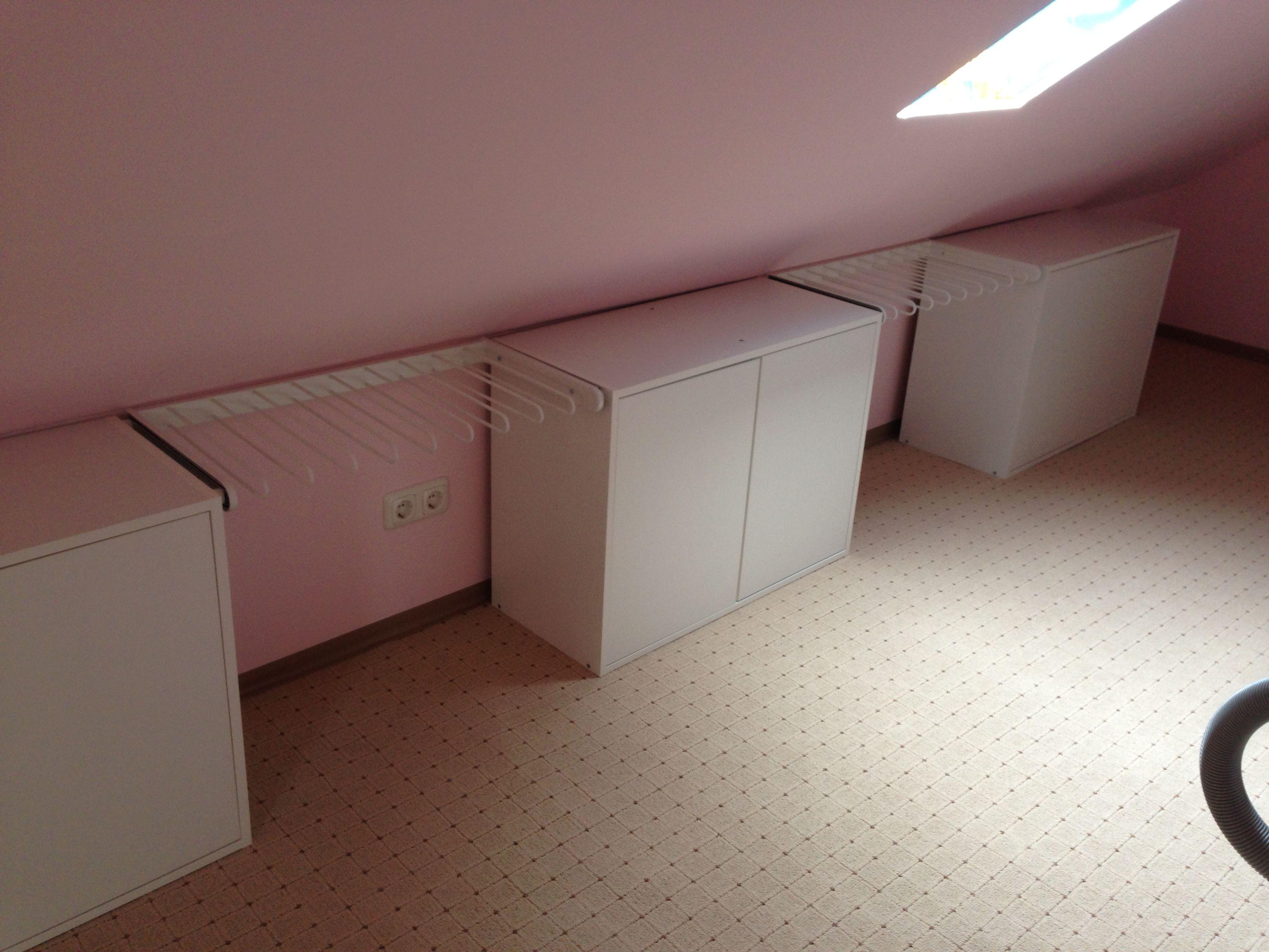 attic #spitzboden #ankleide #küchenoberschränke #hosenauszüge