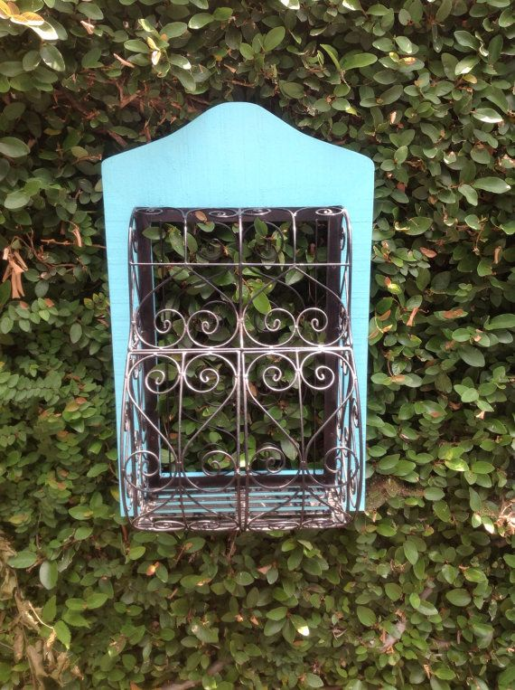 Hand Painted Vintage Wire Cage  on Etsy, $145.00
