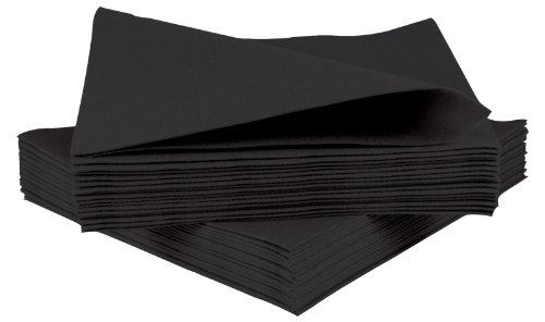 Pack Of 50 Luxury Airlaid Black Paper Napkins Linen Feel Amazon Co Uk Kitchen Home Linen Feel Black Paper Paper Napkins