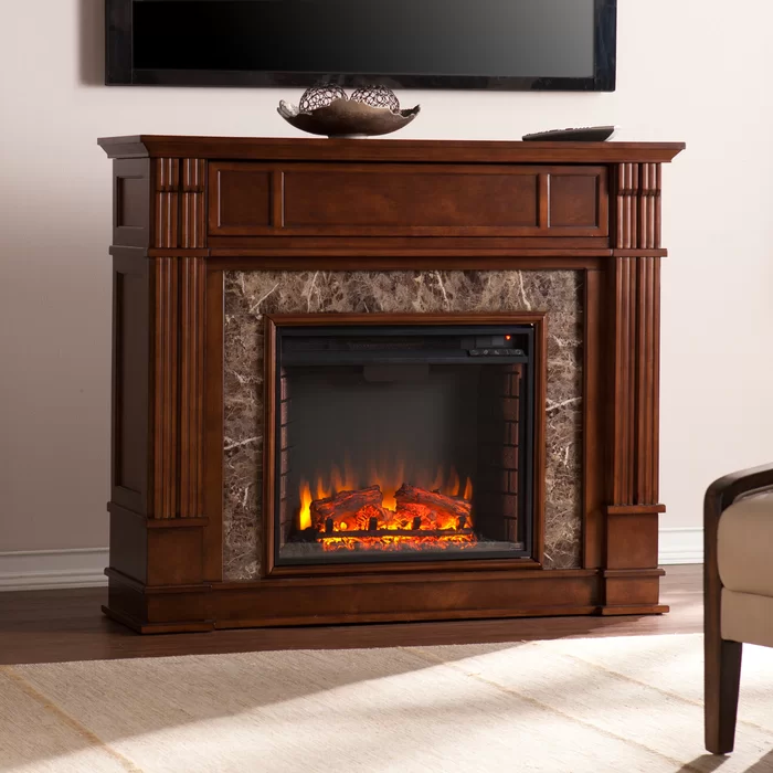 Boyer Heartwood Electric Fireplace With Blower In 2020 Faux