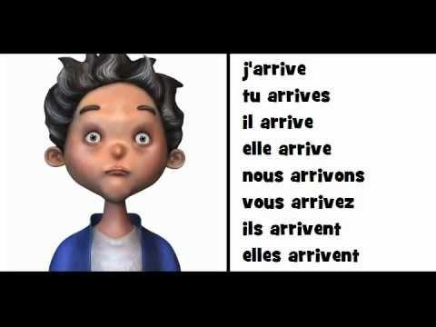 Nauka Francuskiego Le Verbe Arriver French Grammar Teaching French French Vocabulary
