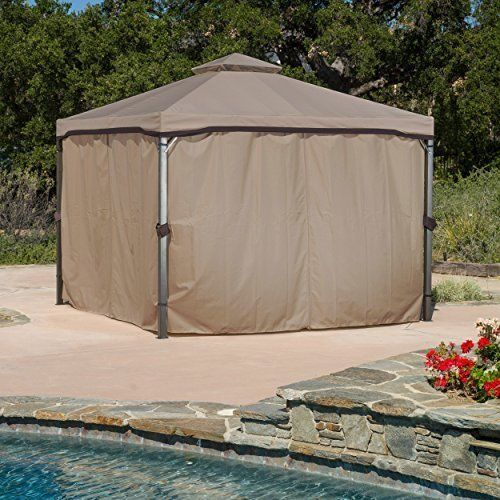 10 X 10 Top Gazebo Tent Steel Frame Outdoor Net For Patio Dining Furniture Set Patio Gazebo Outdoor Gazebos Gazebo