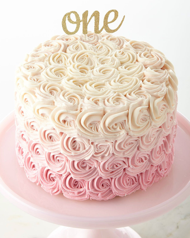 One Cake Topper ~ 1 Glitter Topper ~ Smash Cake Topper ~ 1st Birthday Cake Topper ~ Pink And Gold Topper ~ Silver Cake Smash ~ Birthday Cake