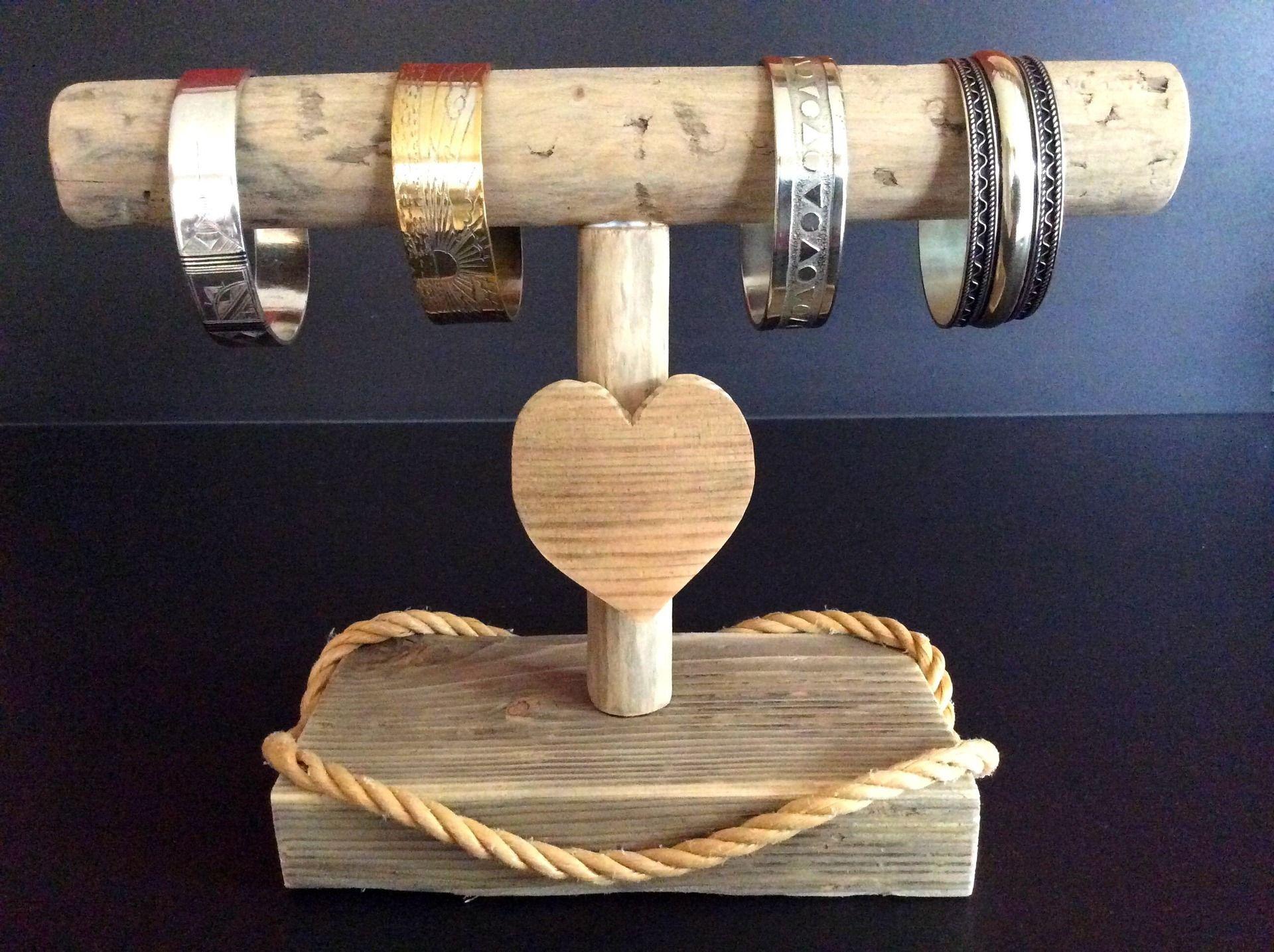 Bois Flotté Porte Photo porte-bracelets en bois flotté par l'atelier de corinne