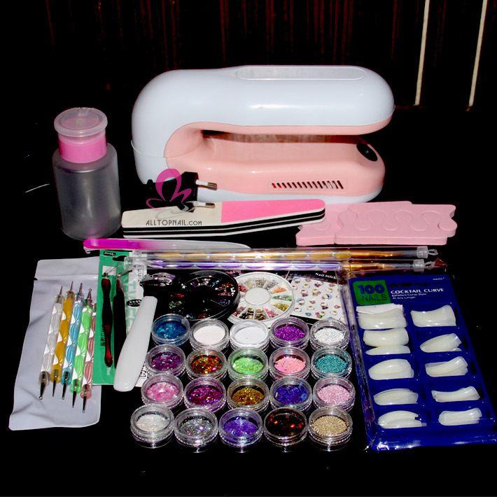 Acrylic Nail Kit Supplies Want Pinterest Nail Supply Glitter