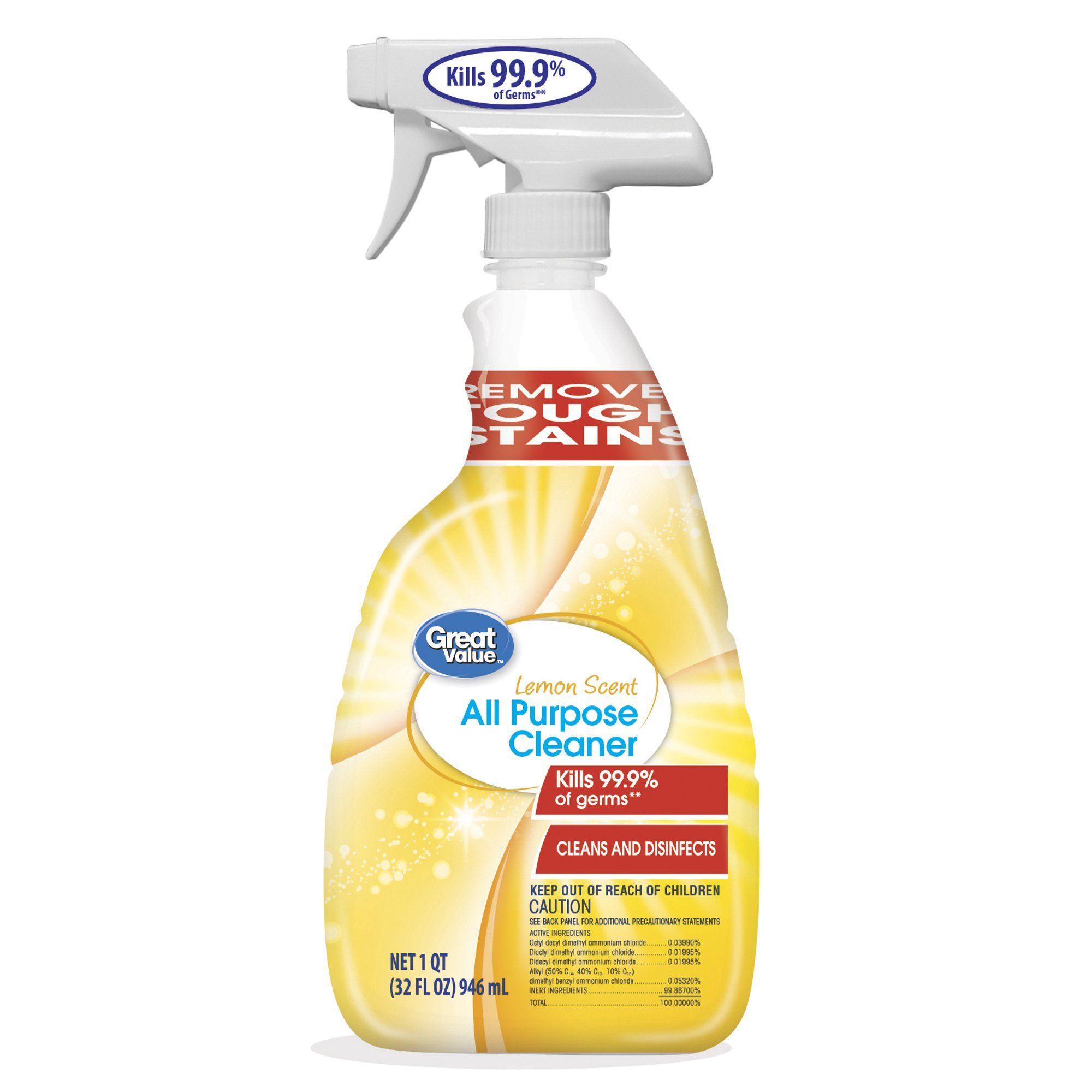 great value all purpose cleaner lemon