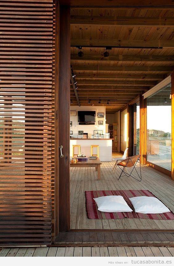 Persianas de madera para terrazas 2 decoracion - Persianas madera ...