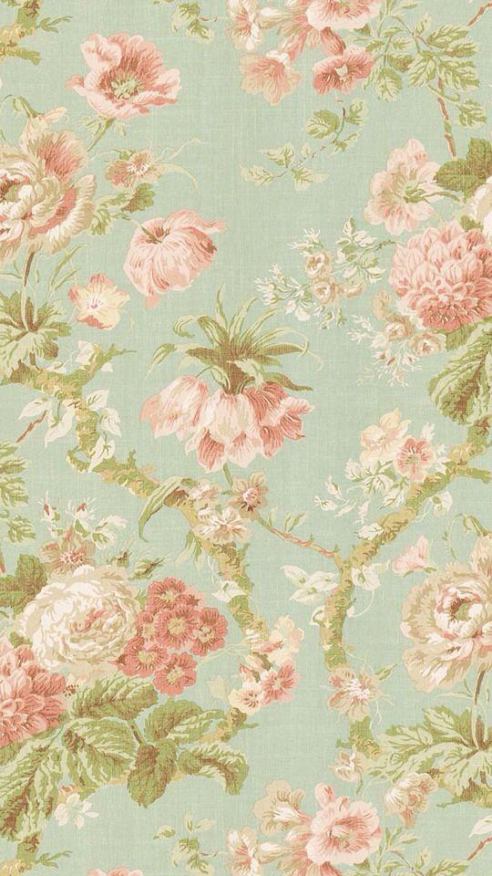 wonderful pattern... | Vintage floral wallpapers, Iphone ...