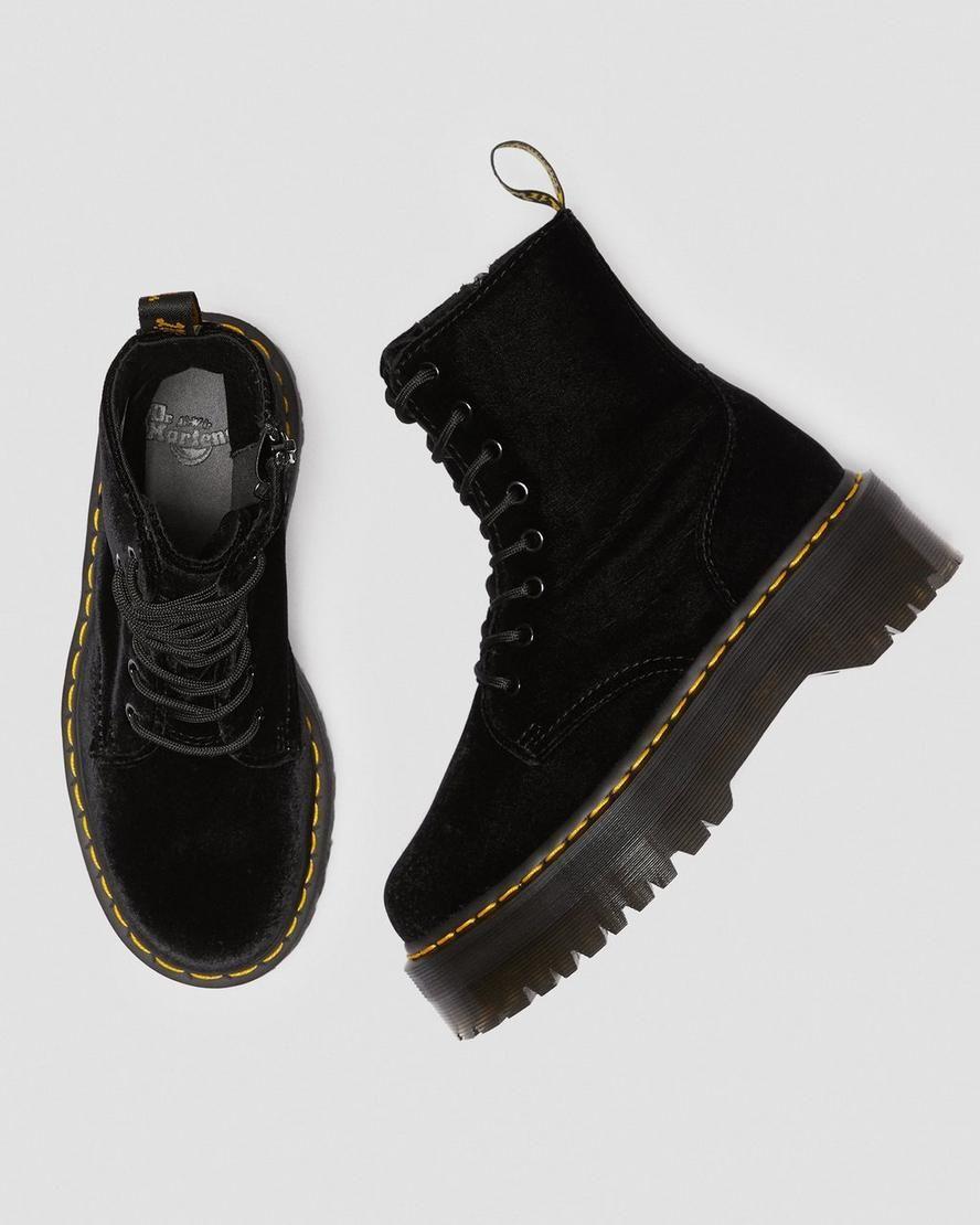 DR MARTENS JADON VELVET | Boots, Womens