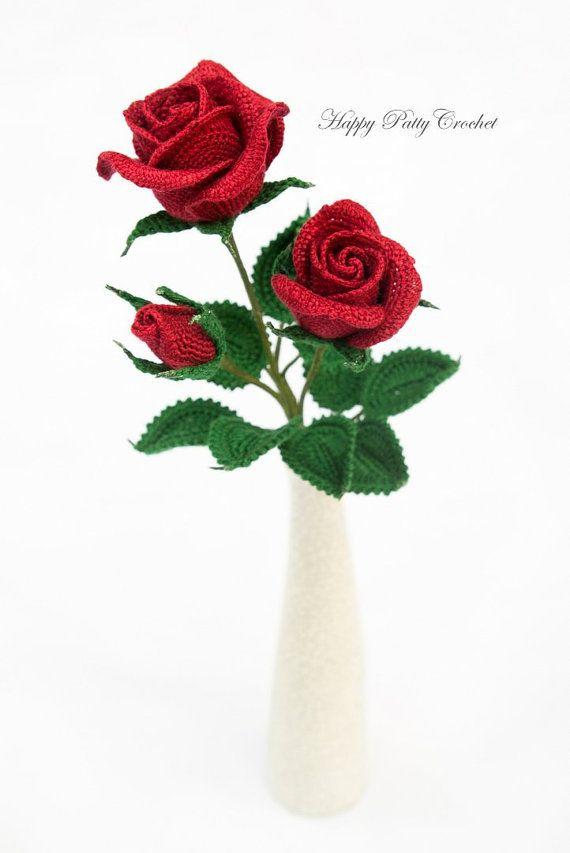 Crochet Spray Rose Pattern - Crochet Pattern for Decor and ...