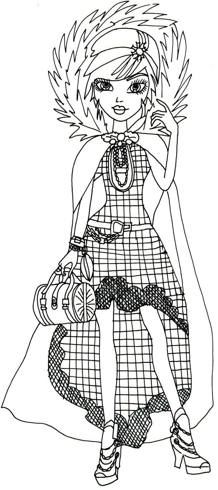 Printable coloring pages ever after high - Free Printable Ever After High Coloring Pages Cerise Hood