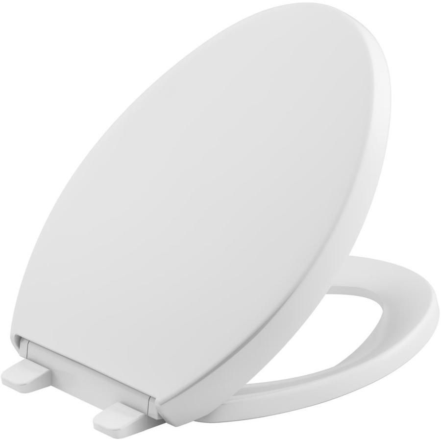 Kohler Quiet Close Reveal Plastic Elongated Slow Close Toilet Seat