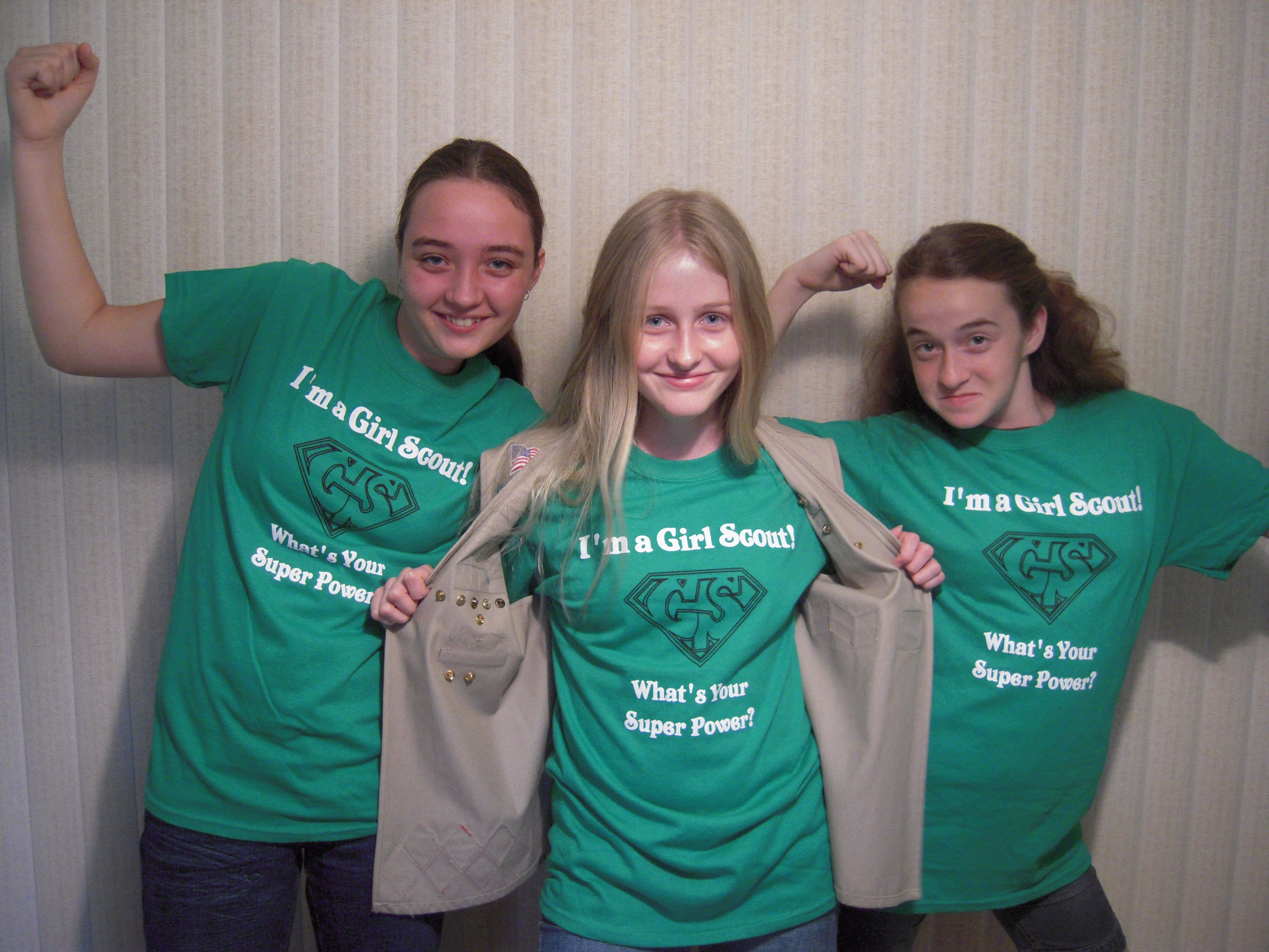 Get your i m a girl scout what s your super power t for Girl scout troop shirts