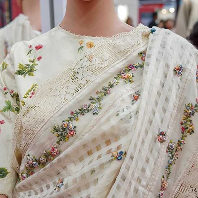 And this is in white. Hand-painted blouse with subtle embellishments ...