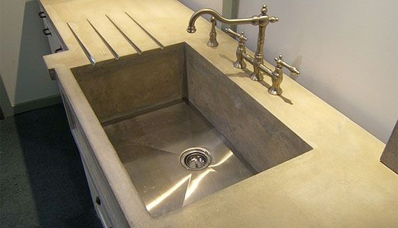 Charming Deep Sink, Drainboard Concrete Countertops Concrete Elegance, Inc. Vaughan,  ON