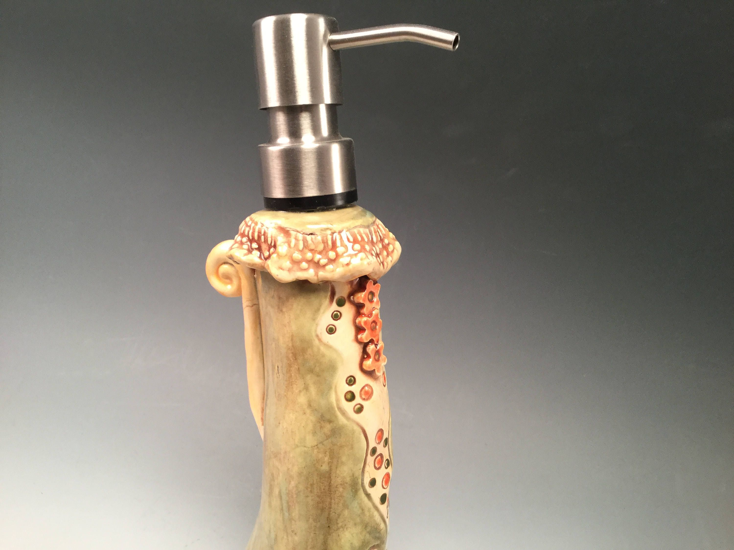 Soap Dispenser Soap Pump Bathroom Accessories Pottery Soap Pump Soap Dish Soap Bottle Kitchen Soap Pump By Joycepottery Kitchen Soap Soap Pump Soap Dispenser
