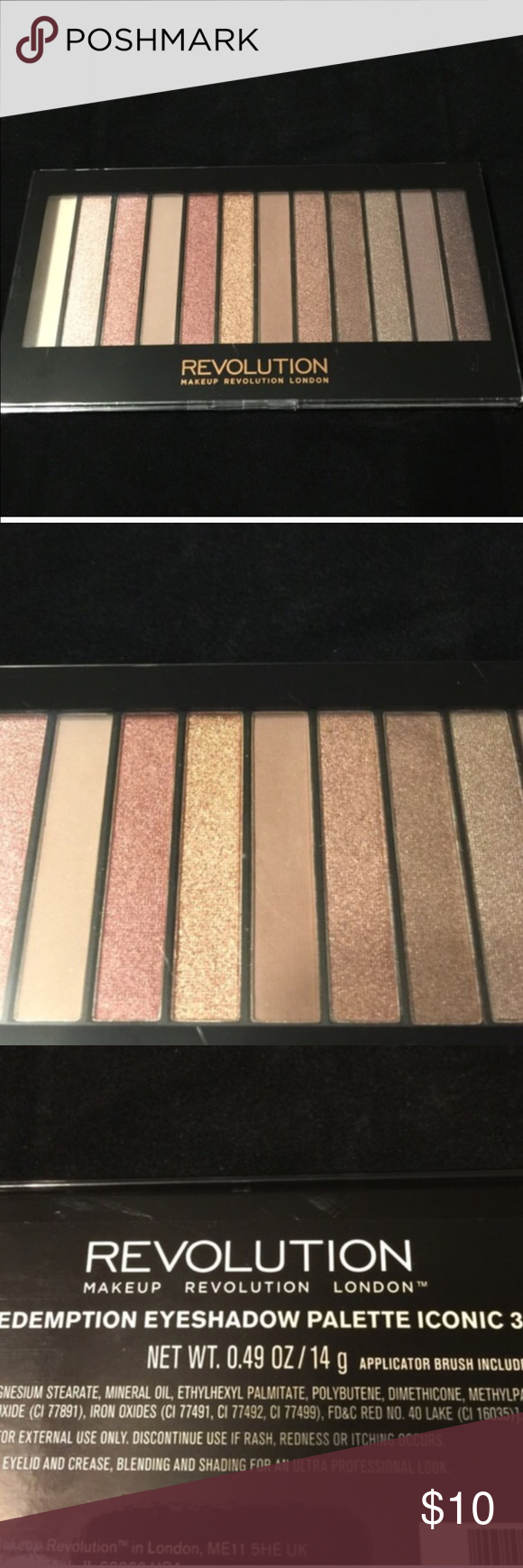 Makeup Revolution Eyeshadow Palette 3 Makeup Revolution Eyeshadow Iconic Palette 3. Very comparable palette to the Urban Decay Naked 3 but at a cheaper price. Never Opened. Never Used. Brand New. 😀 Sephora Makeup Eyeshadow